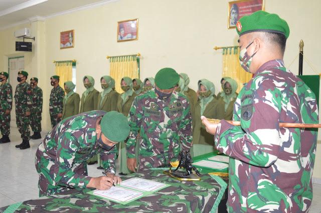 Dandim 0716 Demak Pimpin Korps Raport Pindah Satuan dan Serah Terima Jabatan Danramil