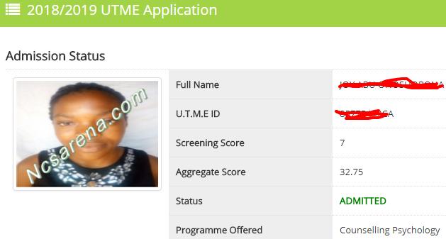 TASUED 2018 Admission Status Result