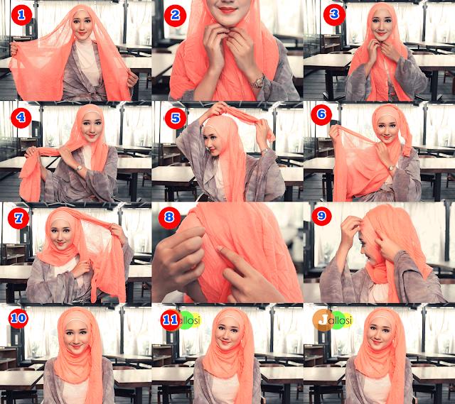 Tutorial Hijab Casual Ala Dian Pelangi Trend 2017 JALLOSI