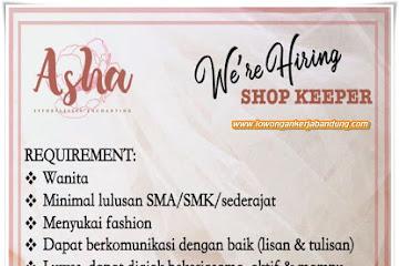 Lowongan Kerja Shop Keeper Asha Online Shop