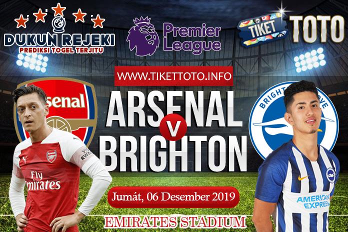 Prediksi Arsenal vs Brighton 06 Desember 2019