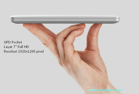 Arenatekno.com - GPD Pocket Laptop Terkecil Di Dunia Dengan Layar 7 Inchi Full HD