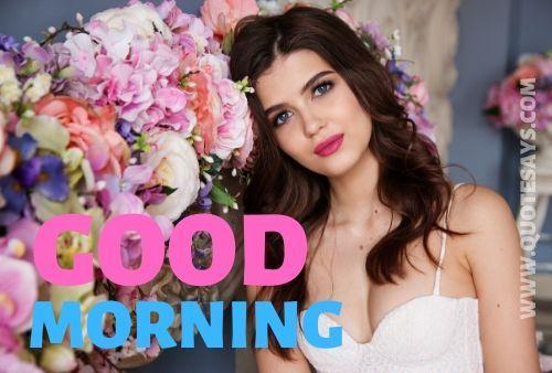 Good morning flower and girl