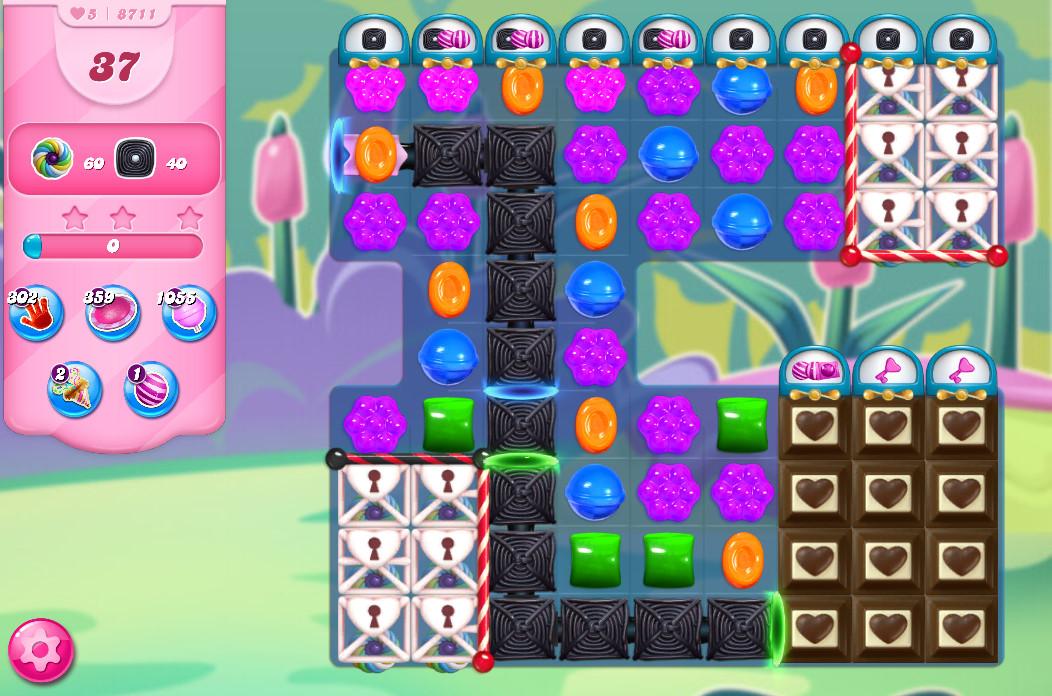 Candy Crush Saga level 8711