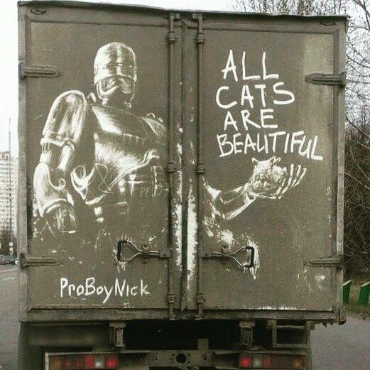 arte em carros abandonados
