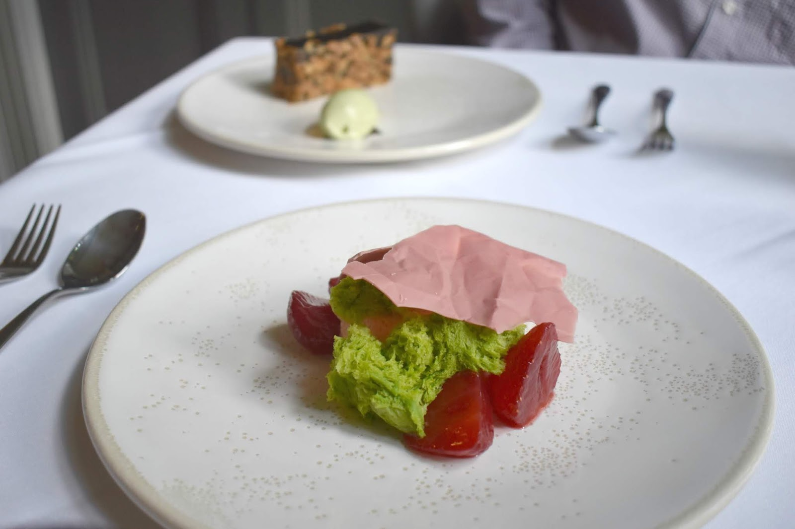 Lunch at Jesmond Dene House - Strawberry Mousse