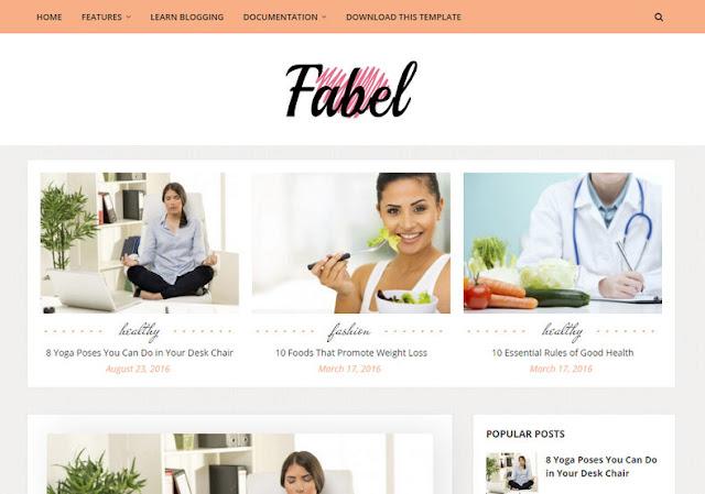 Download Free Premium Fabel Blogger Template