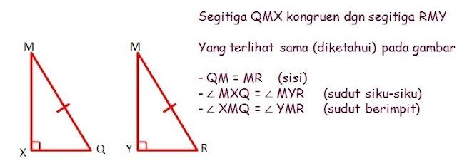 Pembuktian Δ QMX kongruen dengan Δ RMY