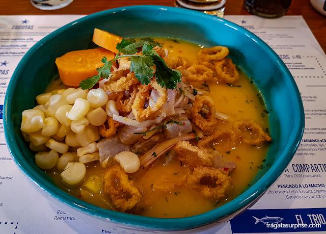 Ceviche do Restaurante Barrio Ceviche, Cusco, Peru