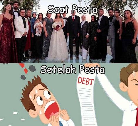 pesta nikah dari hutang