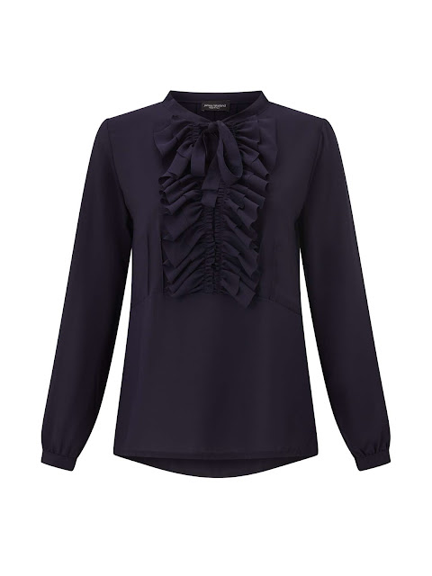 james Lakeland frill tie neck blouse