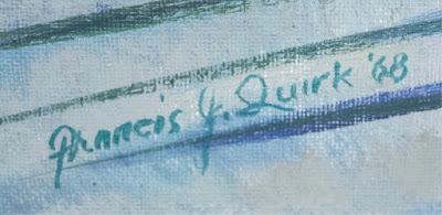 Francis Quirk Artist, Francis J. Quirk Signature, Artist's Signature