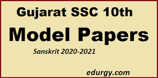 Standard 10 Sanskrit paper style according to the new model considering the situation of Corona Sanskrit 2020-2021