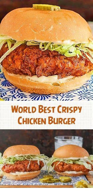 World Best Crispy Chicken Burger