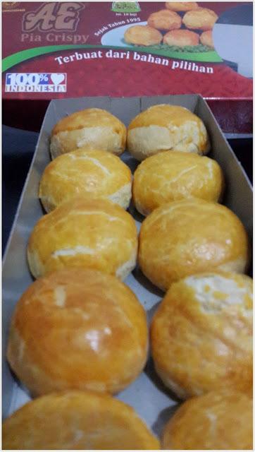 """Kue Pia """"AE"""" Crispy Rasa Kacang Hijau"""