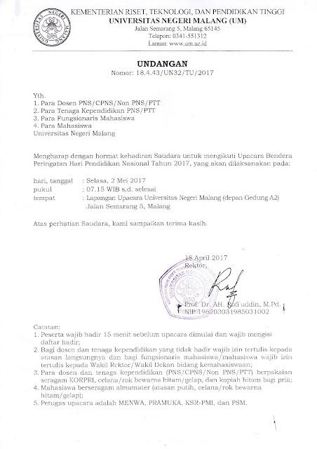 Surat Resmi Memperingati Pendidikan Nasional Yang Baik