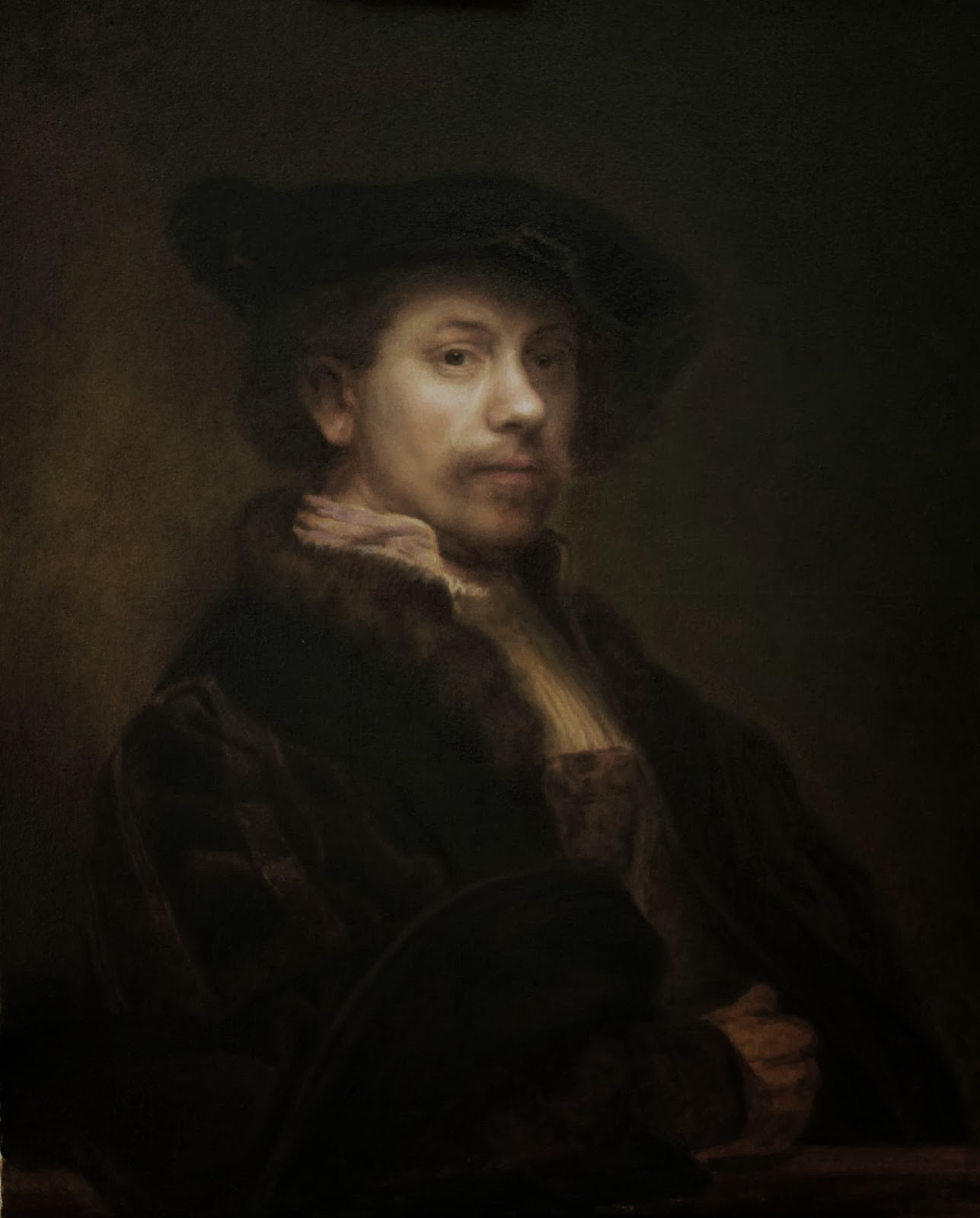 I am copying Rembrandt Self-Portraits 24X30 | My paintings