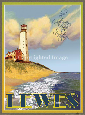 Beach Town Posters Lewes Delaware