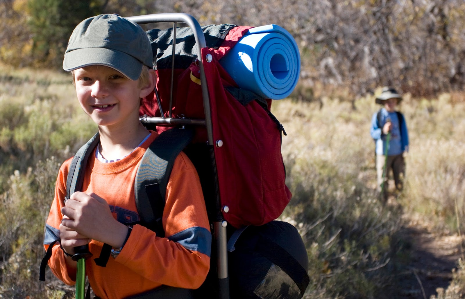 0892915eaee2 Getting your kids to carry a pack while hiking teaches them important  skills