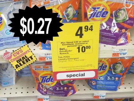 tide pods cvs couponers deal