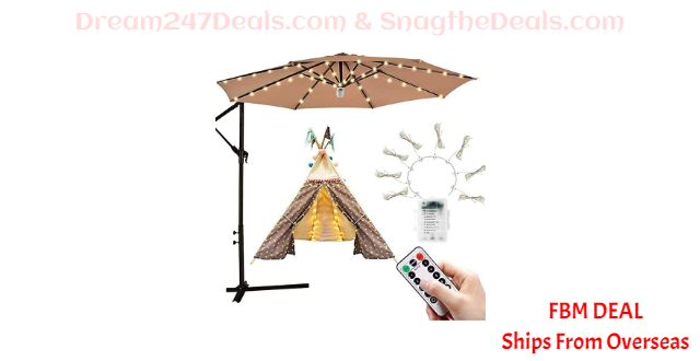 70%  off Waterproof 104LED Remote Control Wire String Light