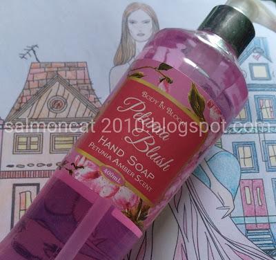body in bloom petunia blush hand soap