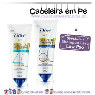 Super-condicionadores Liberados Dove (40 E 60) - Low Poo