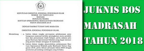 Juknis BOS Madrasah Jenjang MI MTs dan MA 2018