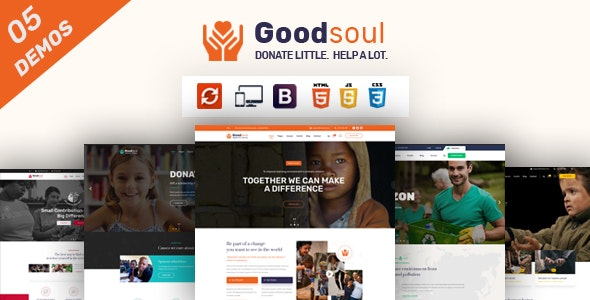 GoodSoul - Charity & Fundraising HTML Template
