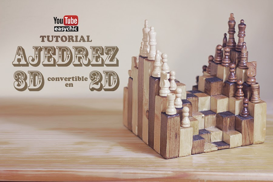 Cómo hacer ajedrez 3D convertible en 2D   Manualidades