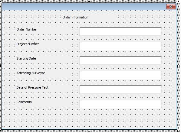 Sample VBA userform