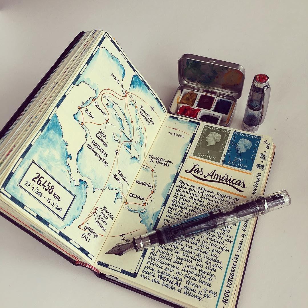 03-Route-map-Jose-Naranja-Urban-Drawings-Travel-Journal-www-designstack-co