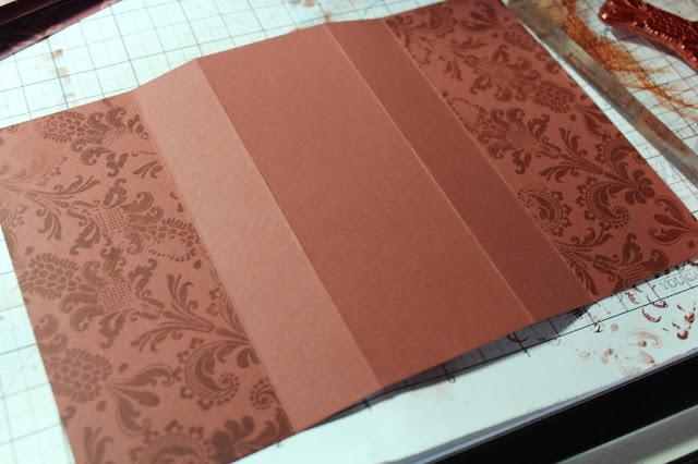 Damask Idea Deck Challenge Card #clubscrap #cards #funfold #rubberstamps #stamping
