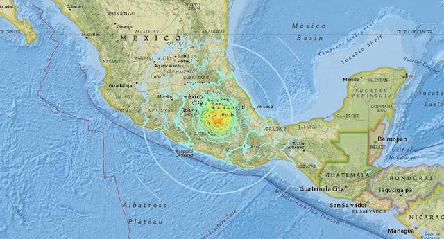 Tremor de 6,2 graus na escala Richter foi sentido na região centro-sul mexicano, apenas quatro dias depois de terremoto deixar 293 mortos no país.