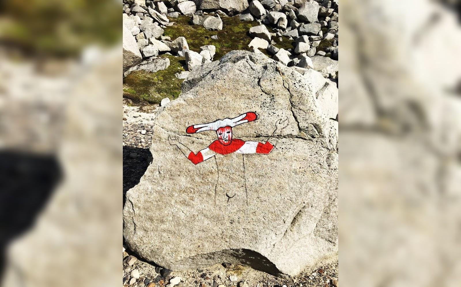 encuentran nueva pintura en Torres del Paine