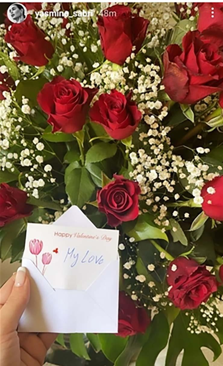 Yasmine Sabry shows off Valentine's Day gift from her husband