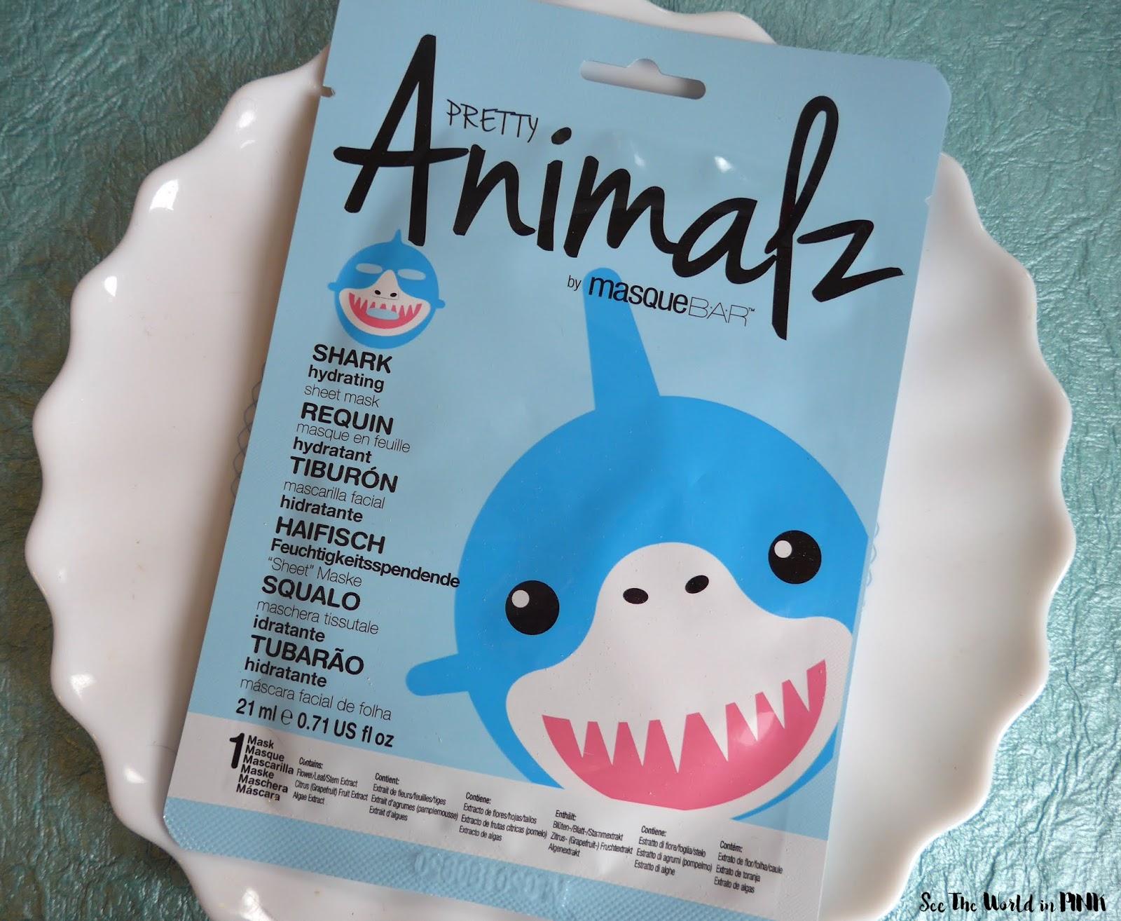 Shark Week Skincare Sunday - Masque Bar Pretty Animalz Shark