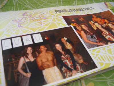 Scrapbooking: mini álbum Hawaii