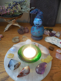 Triple Moon Goddess OOAK Spirit Doll a Gourd and Clay Sculpture