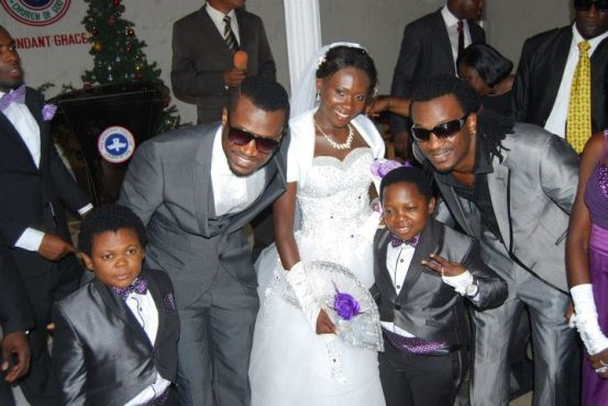 aki+wedding+lindaikejiblog Photo of the day: P square with Aki and Paw Paw