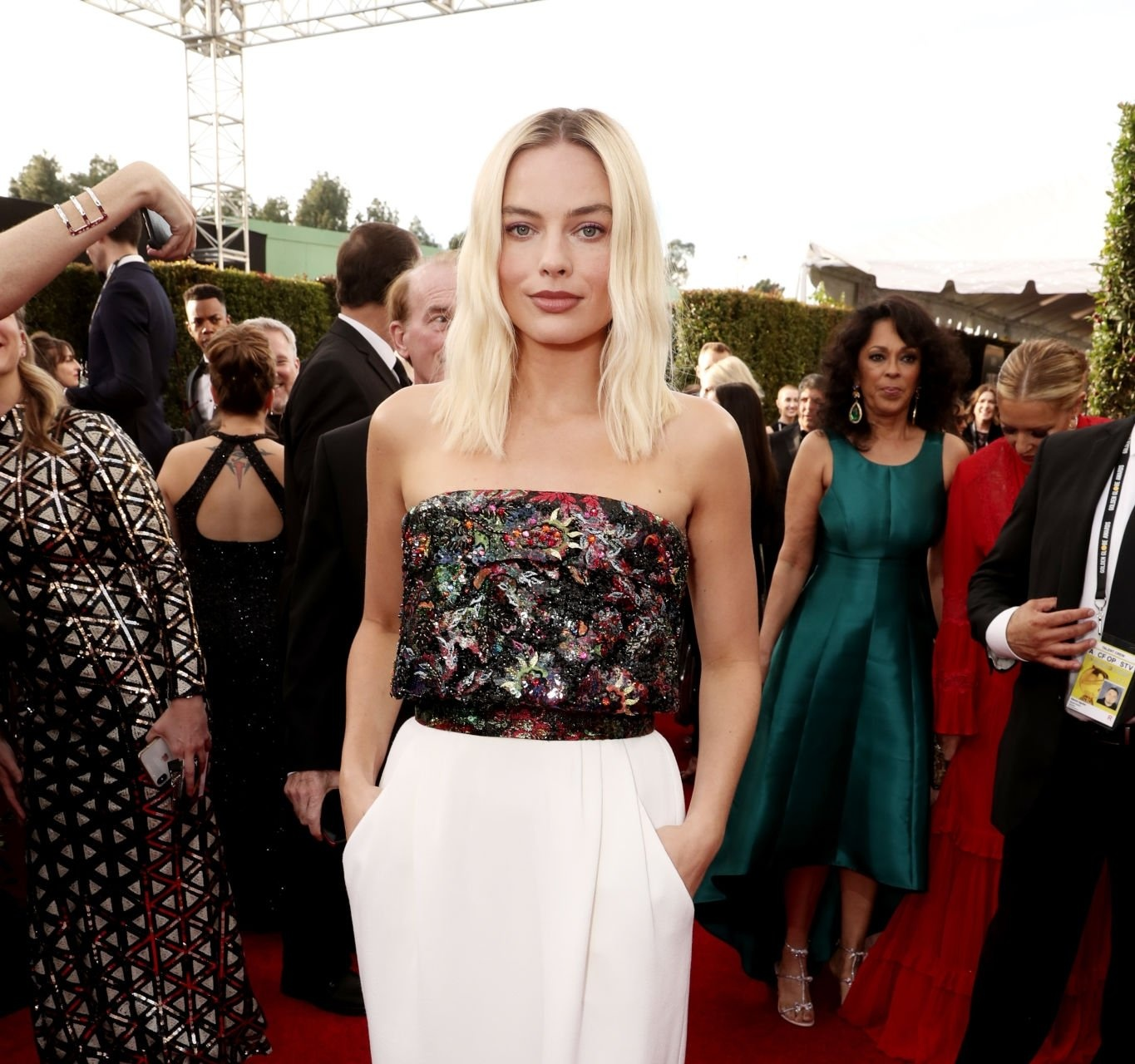 Margot Robbie at the 77th Golden Globe Awards' red carpet