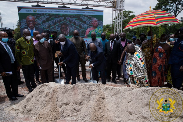 President Akufo-Addo Cuts Sod For 20 Residential Facilities For Appeal Court Judges In Kumasi