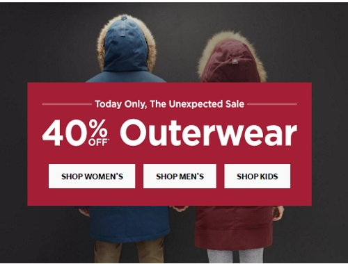 Roots 40% Off Outerwear
