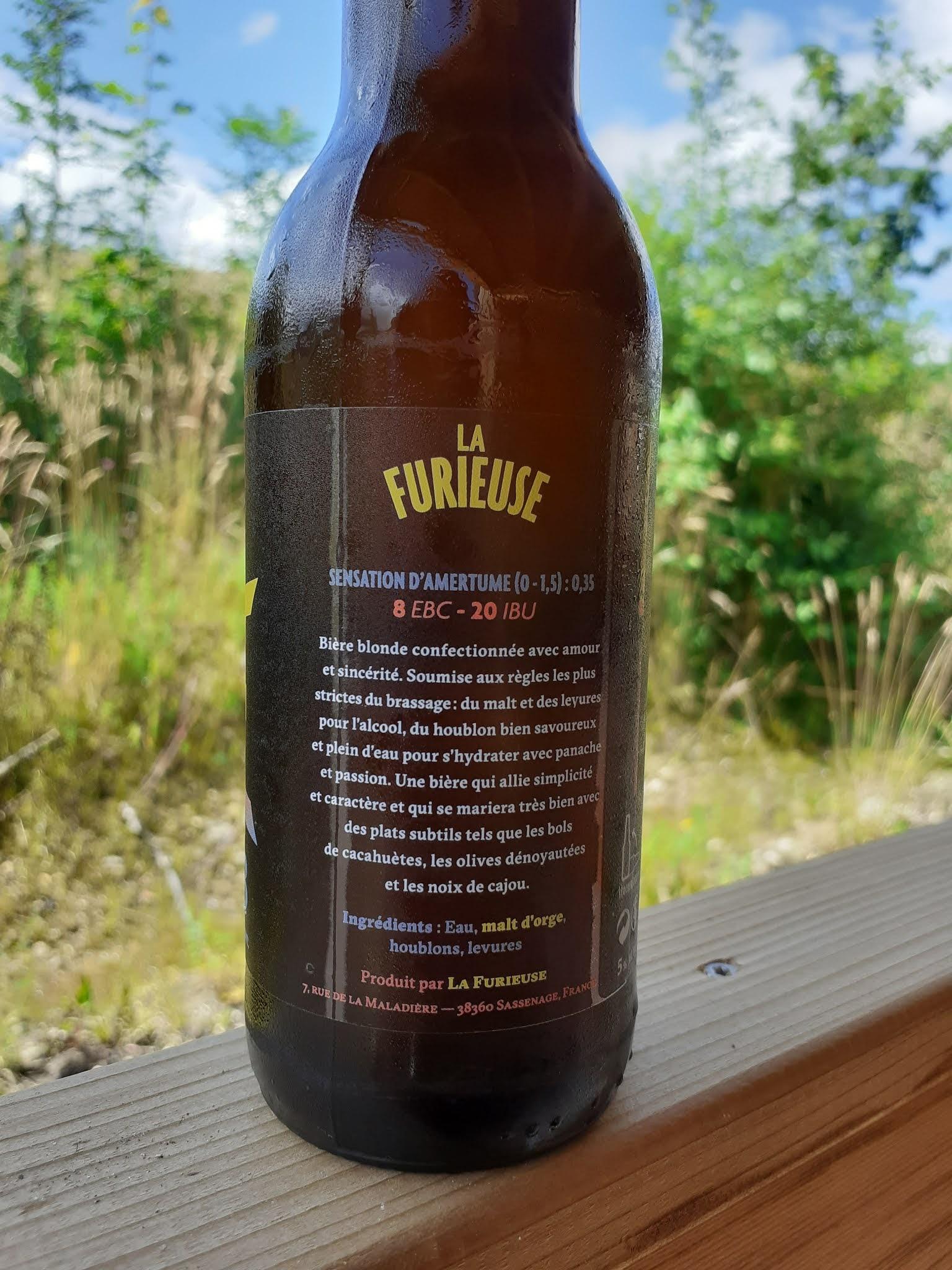 Bière La Furieuse - blonde
