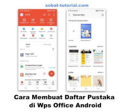 Cara Membuat Daftar Pustaka di WPS Office Android
