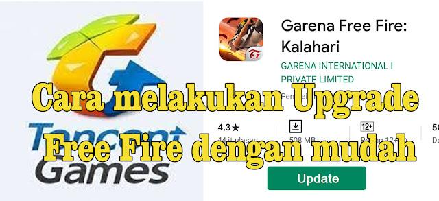 Cara melakukan Upgrade Free Fire dengan mudah