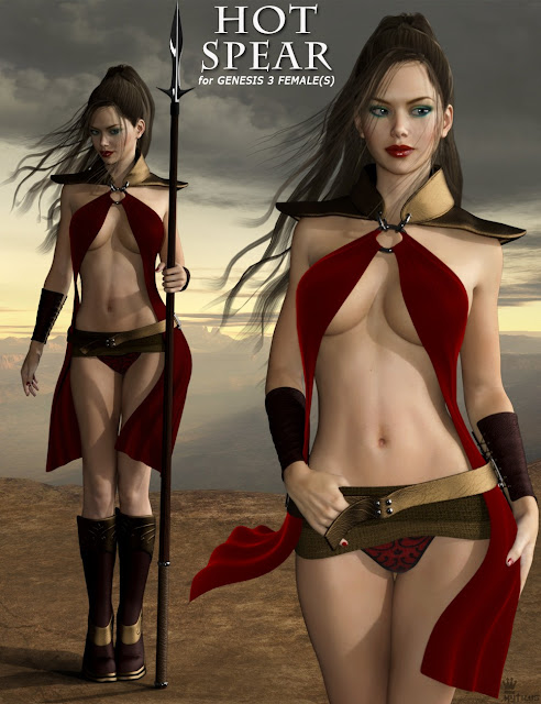 Hot Spear Outfit for Genesis 3 Female
