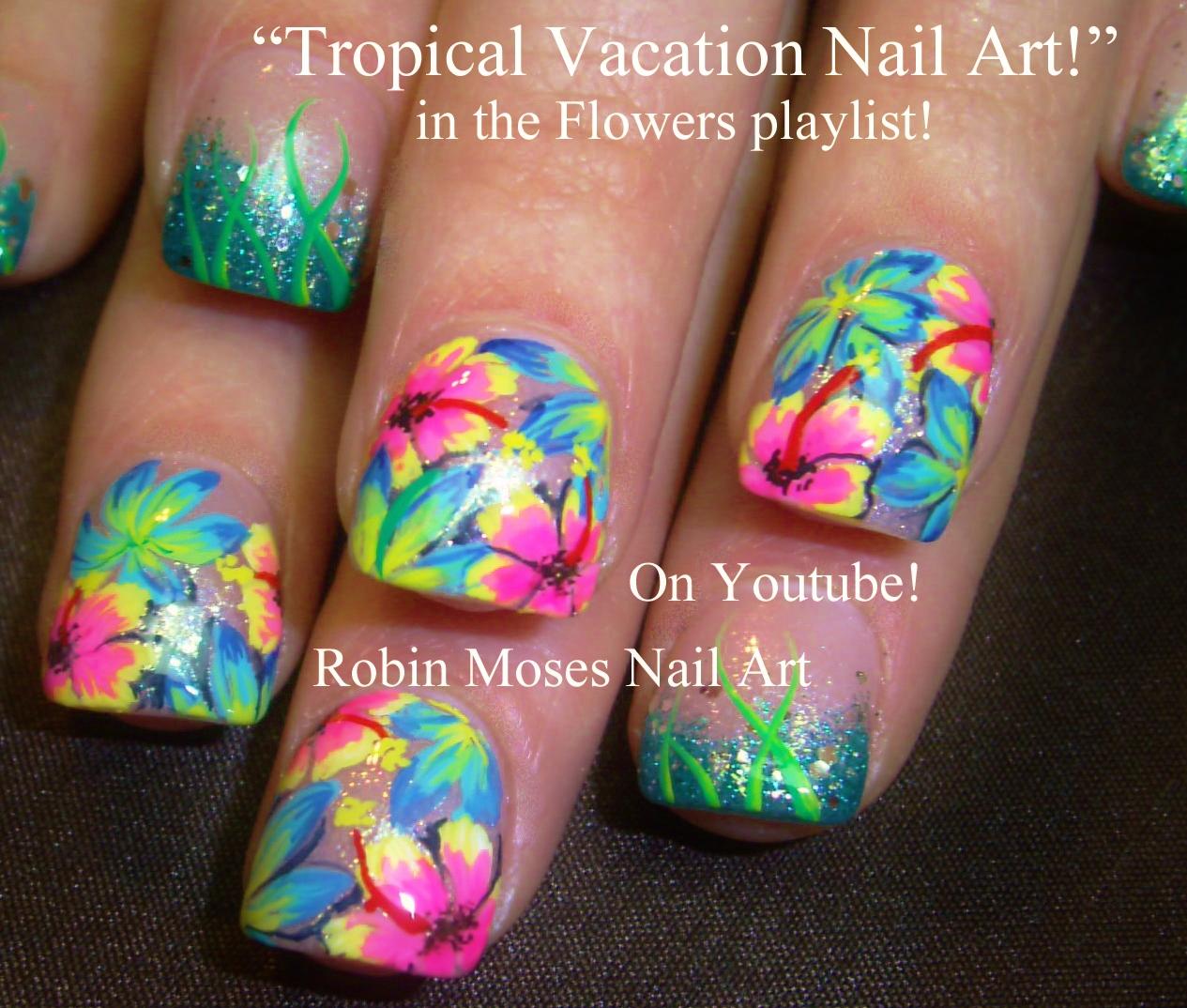 Nail Art by Robin Moses: Abstract Tropical Nails ...
