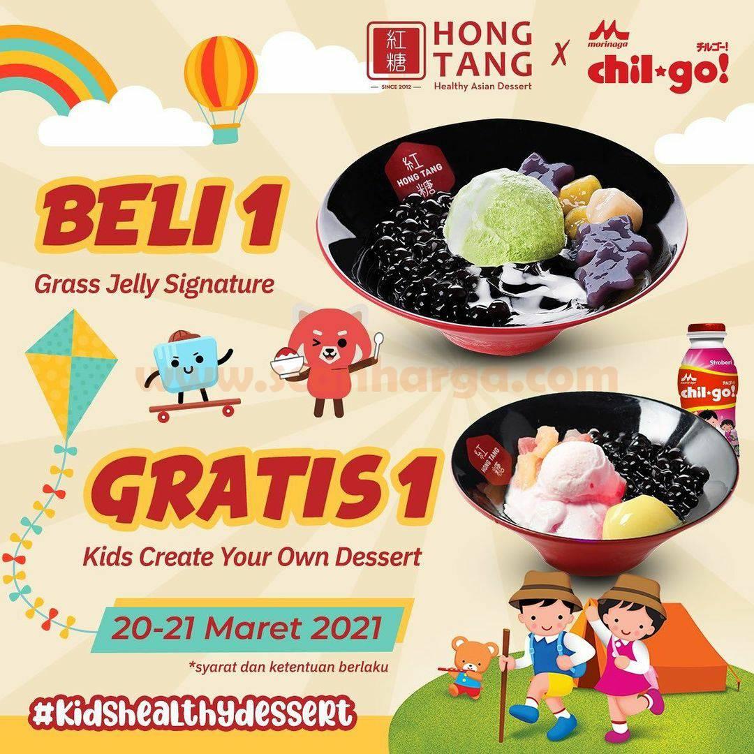 Hong Tang X Chil-Go Promo Beli 1 Grass Jelly Signature Gratis Kids Cyo Chil-Go