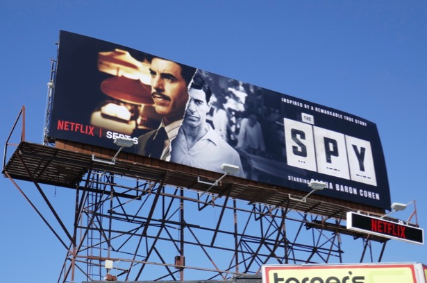 Spy series premiere billboard